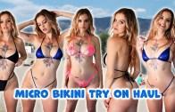 Yazın Kavurucu Sıcaklarındaki Harika Mikro Bikini Şov