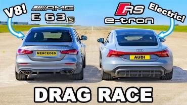 Audi RS E-Tron ve Mercedes E63 Kapışması Karşınızda