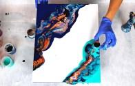 Akrilik Boyalarla Yapılmış Olan Soyut Sanat Çalışması