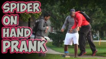 Yardım Eden İnsanları Şoka Uğratan Örümcek Şakası!