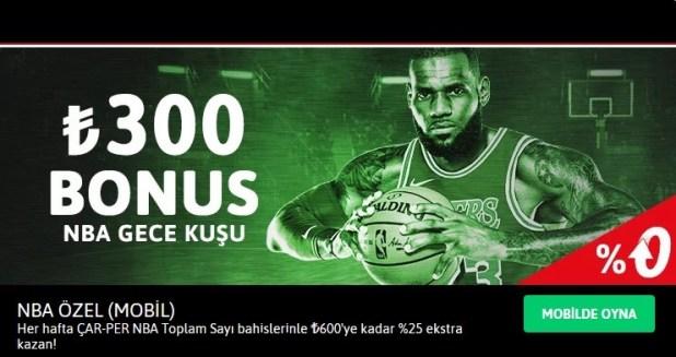 Youwin NBA ÖZEL Gece Kuşu Bonusu