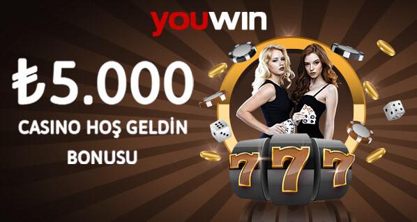 Youwin casino ilk üyelik bonusu.