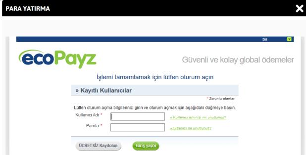Youwin EcoPayz ile Para Yatırma