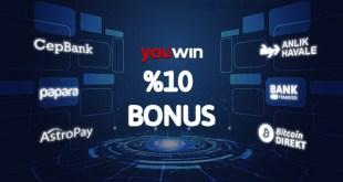 Youwin yatırımlarınız için harika bonuslar.