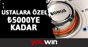 Youwin Ustalara Özel Hoş Geldin Bonusu
