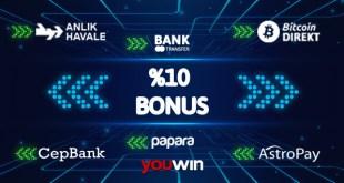 Youwin yatırım bonusları.