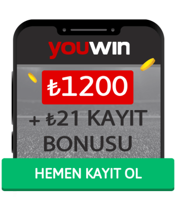 Youwin 1200 TL Kayıt Bonusu