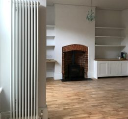 Wood Flooring and Original Fireplace