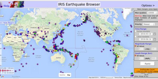 03-14 to 04-14-2016 Earthquakes