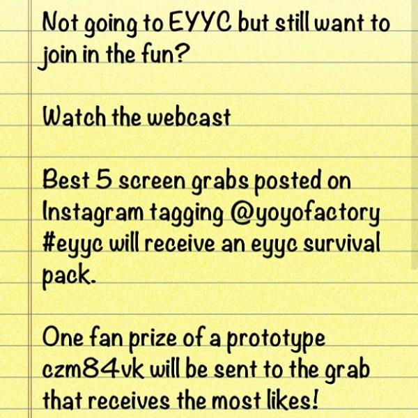 YoYoFactory EYYC 2013 Instagram Contest