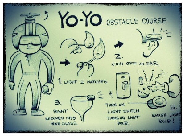 John Higby YoYo Obstacle Course
