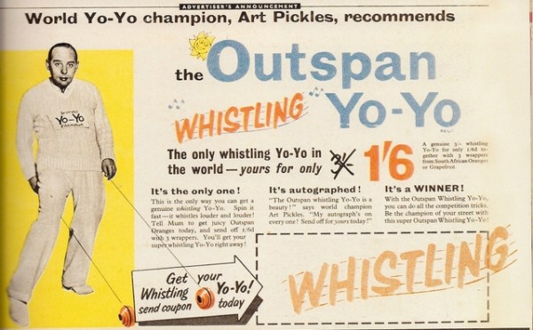Art Pickles Whistling YoYo