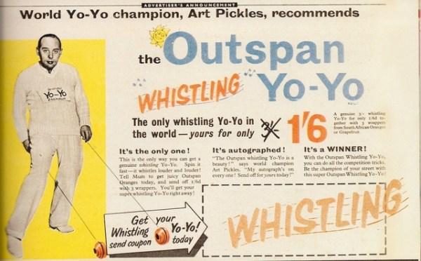 Art Pickles Whistling YoYo
