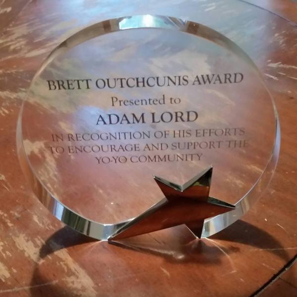 Adam Lord Wins Brett Outchcunis Award