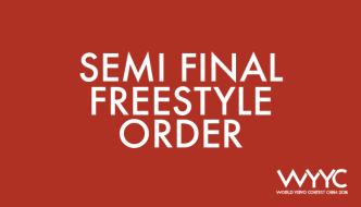 2018 World YoYo Contest – Semi Final Freestyle Order