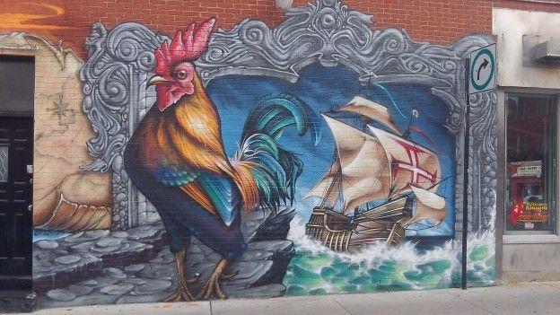 La ville de Montréal se demarque de nombreuses metropoles dans le monde avec une culture omnipresente comme les peintures murales sur les maisons photo blog voyage tour du monde https://yoytourdumonde.fr