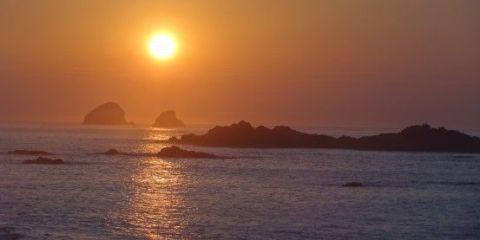 Mexique-Mazunte: Couché de soleil époustouflant du coté de Mazunte au Mexique
