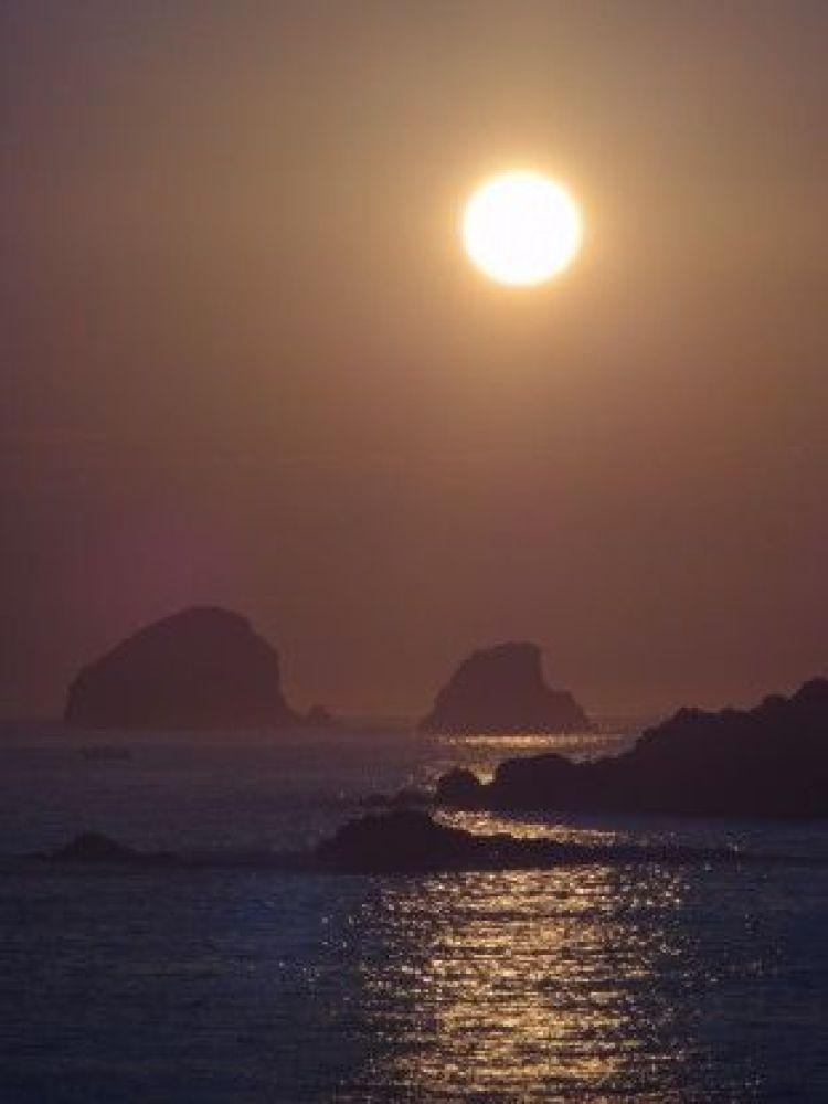 Mexique: L'un des plus beaux couché de soleil de ma vie du coté de la plage de Mazunte.