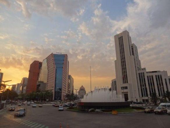 Mexique- Mexico City: Le centre des affaires de la ville.