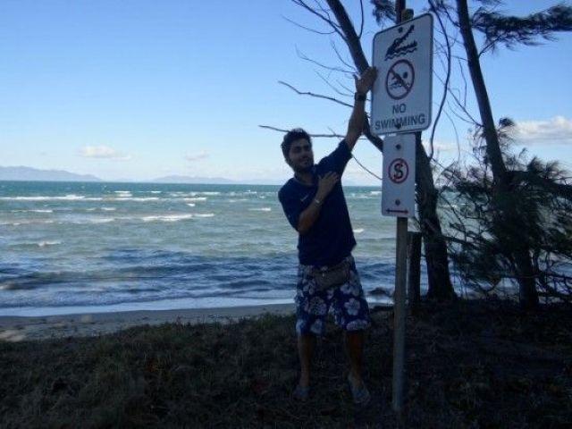 Australie-Bowen: Crocodile a Bowen? Mythe ou realiet les panneaux donnent un indice...pas la population.