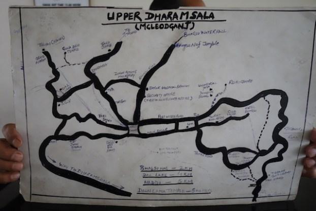 McLeod Ganj et Dharamsala ne forment qu'une ville explication sur cette carte. Voyage tour du monde https://yoytourdumonde.fr
