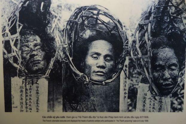 Voyage au Vietnam: La guillotine a fonctionné plusieurs fois dans la prison d'Hanoi. L'ecrire s'est dure, mais rien ne vaut une photo pour condamné les exactions des colons français.