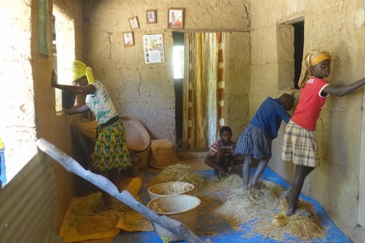 Famille de casamance prépare le riz à Mlomp photo blog voyage tour du monde https://yoytourdumonde.fr
