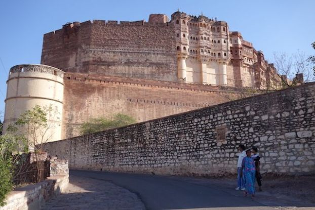 Vue de la magnifique citadelle de Mehrangarh un chef d'oeuvre magnifique photo blog voyage tour du monde https://yoytourdumonde.fr