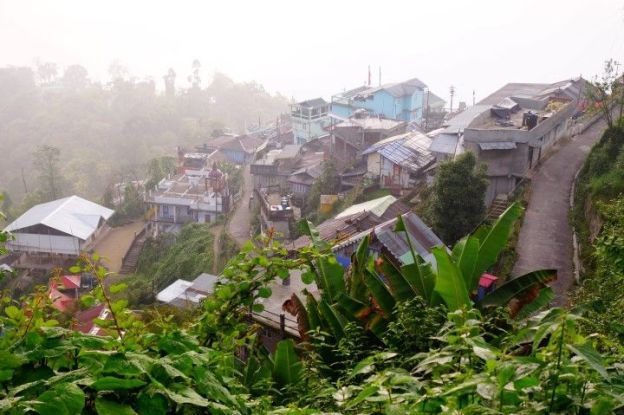 Brouillard à Darjeeling photo blog voyage tour du monde https://yoytourdumonde.fr