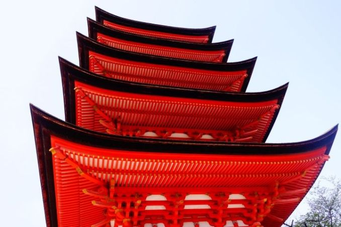 La pagode Gojuno To à Miyajima photo blog voyage tour du monde https://yoytourdumonde.fr