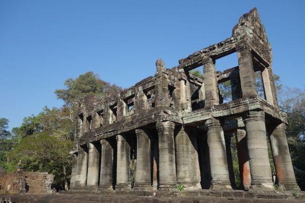 Structure unique dans l'architecture des temples d'Angkor du coté de Preah Khan.