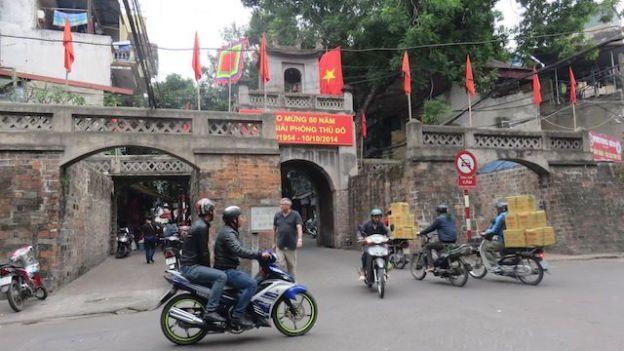 Voyage au Vietnam: Mur de l'ancienne vieille ville d'Hanoi.