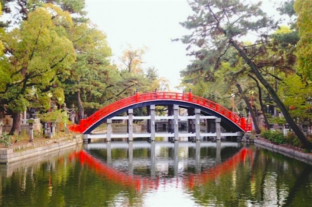 Magnifique sanctuaire de Sumiyoshi Taisha Shrine à Osaka photo blog voyage tour du monde https://yoytourdumonde.fr