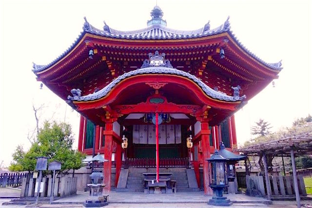 Temple octogoonal de Kofukuji Temple photo blog voyage tour du monde https://yoytourdumonde.fr