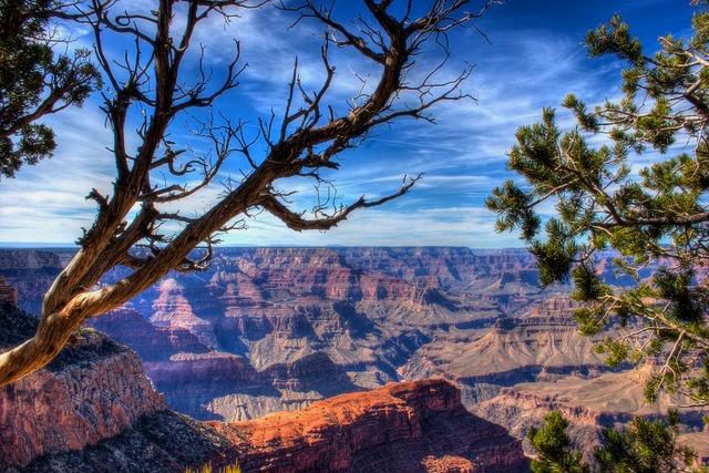 Le Grand Canyon est l'un des plus beaux Parcs de l'Ouest des USA. Avec des points de vues magnifiques. Photo blog voyage tour du monde https://yoytourdumonde.fr