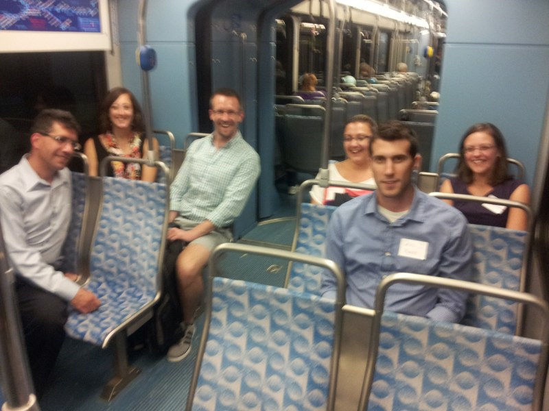 YPT Pittsburgh's first Transit-Oriented Drinks event allowed members a multimodal tour of the City.