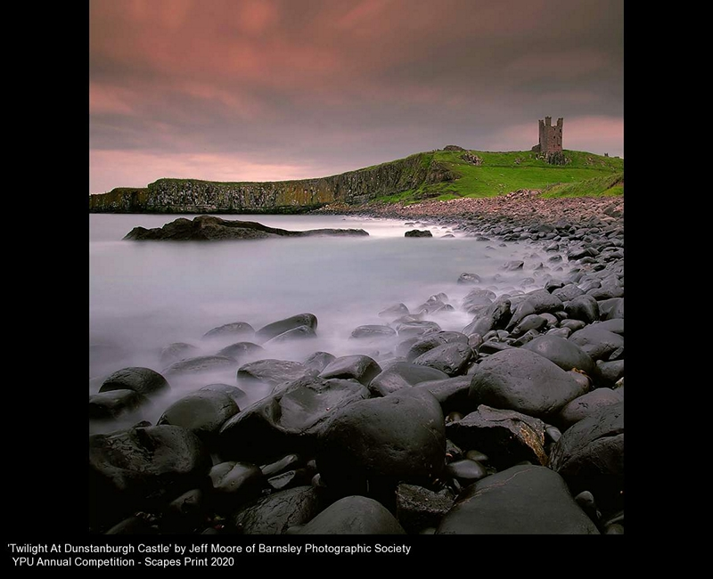 Barnsley Photographic Society_Jeff Moore_Twilight At Dunstanburgh Castle