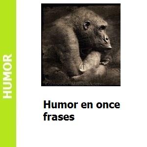 Humor en once frases