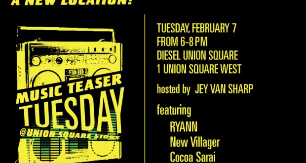 MTT evite 2.7 - Diesel Music Teaser Tuesdays Returns At New Location