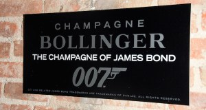 Signage at Champagne Bollinger hosted SPECTRE after party - Event Recap: Champagne Bollinger x James Bond #SPECTRE Screening @007 @BollingerUK @TheLionNYC #Spectre007