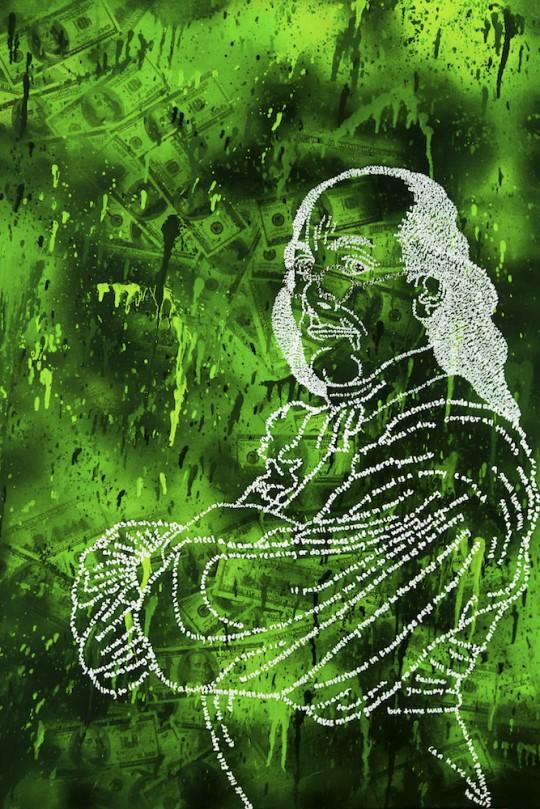 Ben Franklin 20x30 540x809 - Kira Lee: Painting All The Art Exhibit October 27- November 1st, 2016 @212_Arts @KiraLeeArt