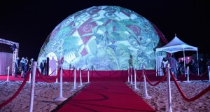 """627113314 620x413 - Event Recap: Kendrick Lamar performs for American Express's """"Art Meets Music"""" Campaign with Shantell Martin at the Faena Dome #Miami #ArtBasel  @kendricklamar @shantell_martin #AmexAccess"""
