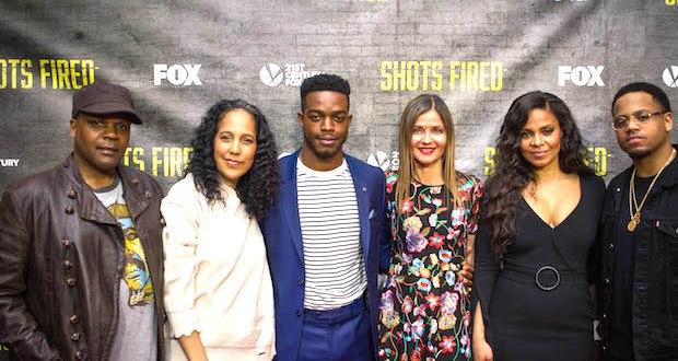 Shots Fired Cast and Crew Shot 1 of 11 - Event Recap: Shots Fired Screening New York City @RocktheFilm @realstephj @justsanaa @MACKWILDS @GPBmadeit @RichardDreyfuss @JillHennessy #shotsfiredfox