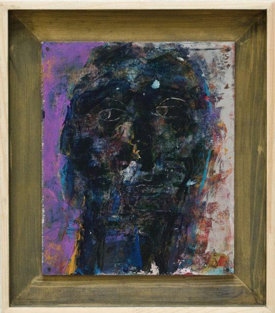 02. Kudor Duka Istvan Angel 2 Acrylic on canvas mounted on  540x614 - CON-FRONT EAST Exhibition November 4- November 26, 2017 at GALLERY RIVAA @icrny #rivaa #rooseveltisland