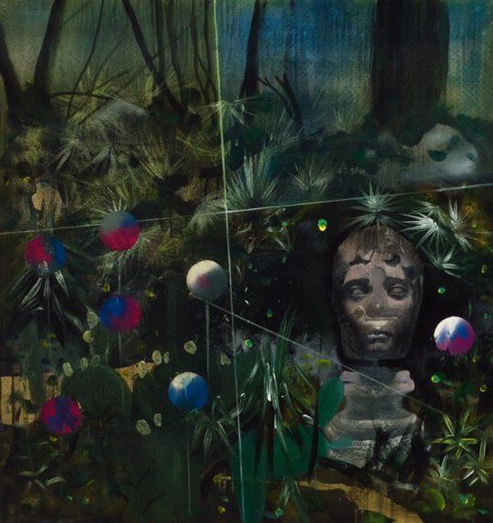 05. Andrei Ciurdarescu Utopian garden II mixed technique on  540x573 - CON-FRONT EAST Exhibition November 4- November 26, 2017 at GALLERY RIVAA @icrny #rivaa #rooseveltisland
