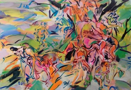 medium Grass Lunch Suzanne Unrein 540x373 - Suzanne Unrein Animal Dreams Exhibition February 15 - June 15, 2018 @GroupeNYC @stunrein