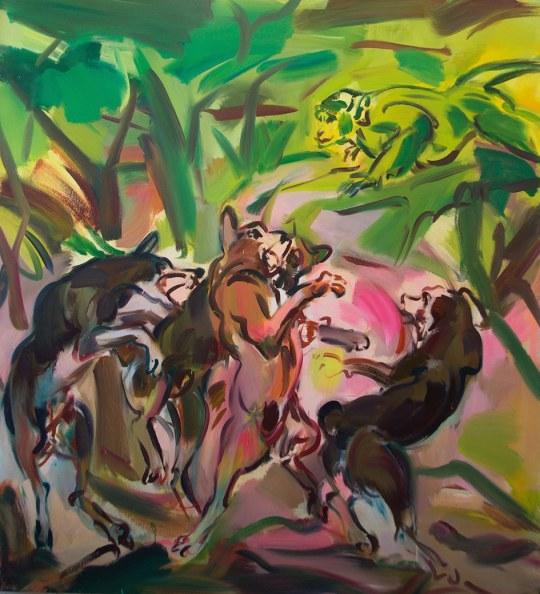 medium The Party Suzanne Unrein 540x594 - Suzanne Unrein Animal Dreams Exhibition February 15 - June 15, 2018 @GroupeNYC @stunrein