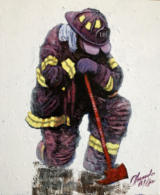 On Bended Knee 540x655 - Alexander Millar's Everyday Heroes Exhibition and Pop-Up Gallery April 4 - 20th, 2018 @vscorresponding @FDNYMuseum @AlexanderMillar @FDNY