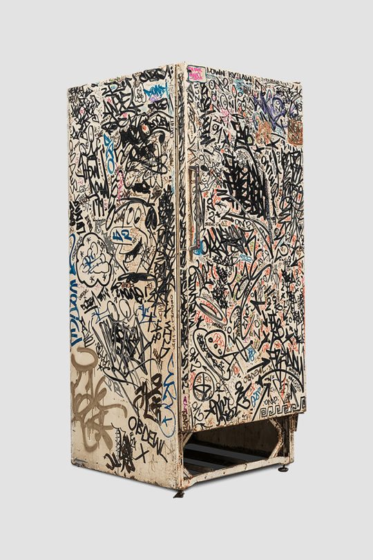 Basquiat Haring Others – Untitled Fun Fridge c. 1980 1985 – Image 1 – LR 540x810 - The Art of Collaboration Exhibit September 17-October 27th, 2018 Venus Over Manhattan Gallery @V_over_M