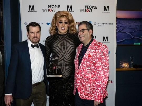 Kenneth Walsh Tina Burner Michael Musto 540x405 - Event Recap: Metrosource People We Love Gala @MetrosourceMag @TheTinaBurner @donlemon @mickeymusto @48loungenyc @VisitIsrael #PeopleWeLove event!  #GayNYC @ILoveGayNYC